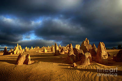 Photograph - Golden Hour Nambung Desert Australia by Bob Christopher