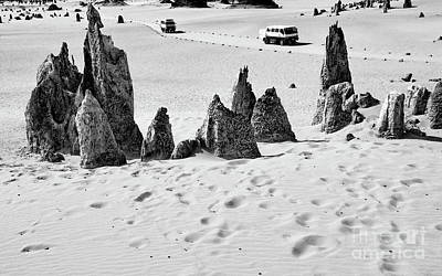 Photograph - Nambung Trekking Bw by Tim Richards