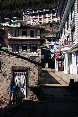 Photograph - Namche Bazaar Hotelier by Owen Weber