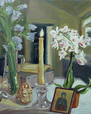 Painting - Nameday Table by Laura Wilson