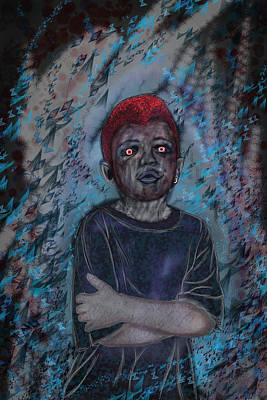 Nameless Blue Art Print by Leon Gorani