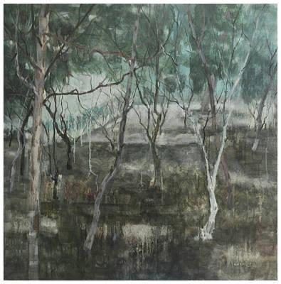 Nameless Tree-black Land Print by Zhixun Lin