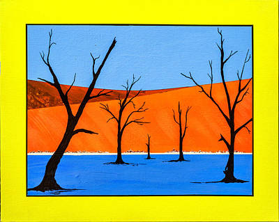 Painting - Namibia Desert Duns by Ken Frischkorn