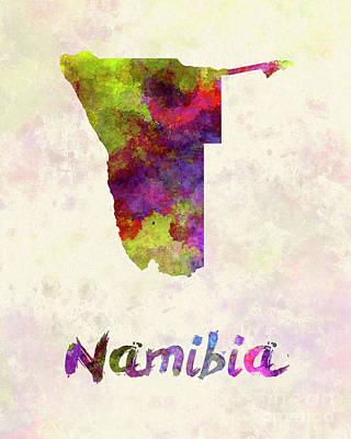 Namibia  In Watercolor Art Print