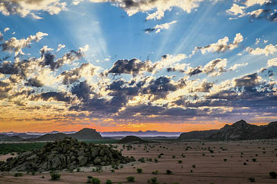 Photograph - Namibia Sunset by Randy Green