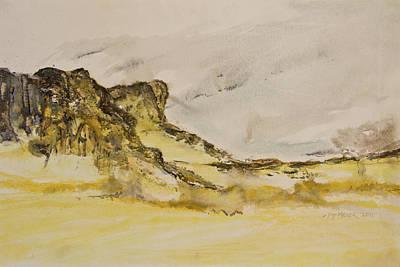 Sanddunes Painting - Namibian Landscape 01 by Melanie Meyer
