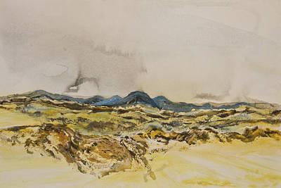 Sanddunes Painting - Namibian Landscape 02 by Melanie Meyer