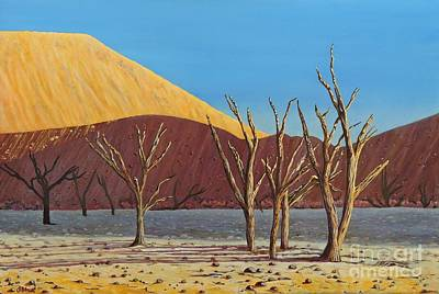 Painting - Namibian Sunset by Caroline Street