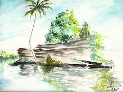Painting - Nan Madol Ruins Pohnpei by Karen  Ferrand Carroll