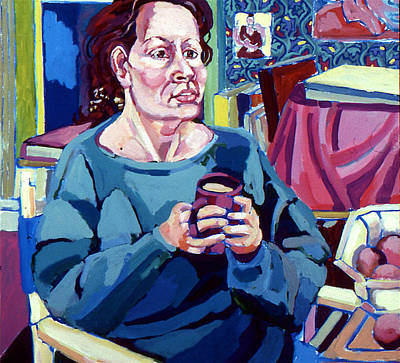 Painting - Nan With Coffee by Doris  Lane Grey