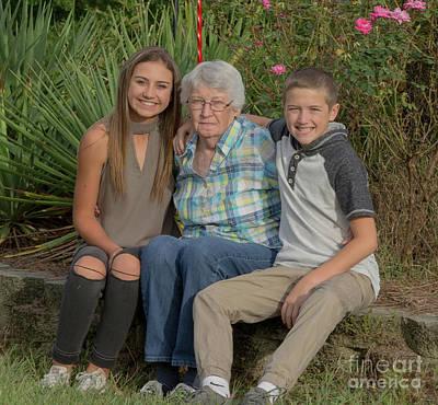 Farmhouse - Nana and the kids by Patrick Burke