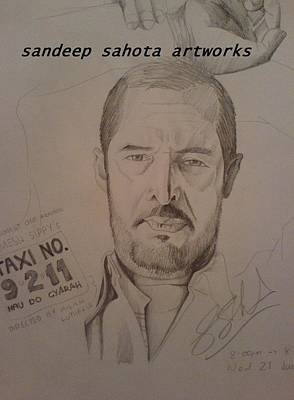 Muslims Of The World Drawing - Nana Patekar by Sandeep Kumar Sahota