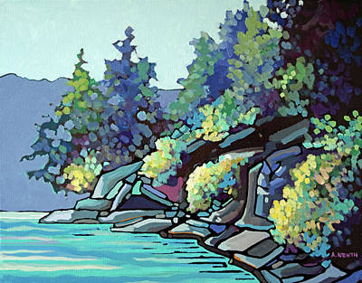 Wall Art - Painting - Nanaimo Shore  by Alison Newth
