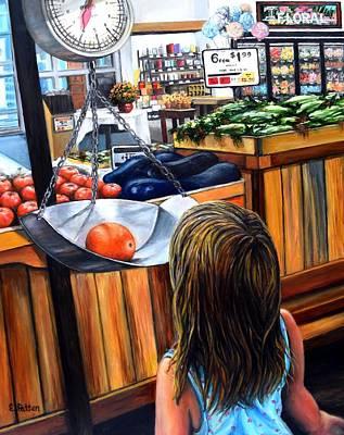 Painting - Nana's Helper by Eileen Patten Oliver