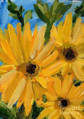 Painting - Nana's Mini Sunflowers by Windi Rosson