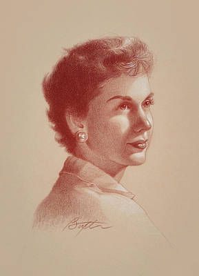 Drawing - Nance by Todd Baxter