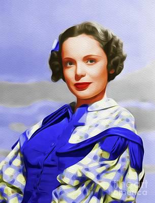 Painting - Nancy Coleman, Vintage Movie Star by John Springfield