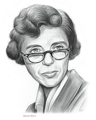 Drawing - Nancy Culp by Greg Joens