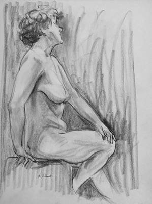 Drawing - Nancy In Profile-2 by Robert Holden