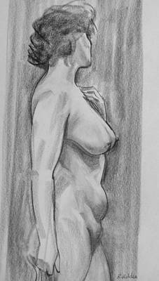 Drawing - Nancy  In Profile by Robert Holden