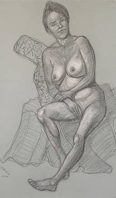 Drawing - Nancy Reclining by Donelli  DiMaria