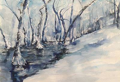 Nancy's Creek Winter Of 2012 Print by Robin Miller-Bookhout