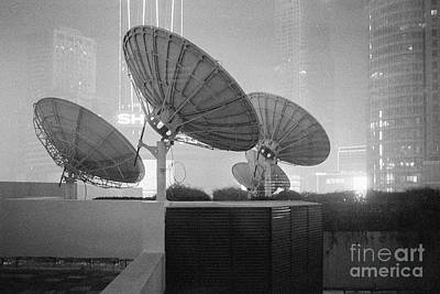 Photograph - Nanjing Satellites In Black And White by Dean Harte