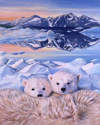 Nanook Painting - Nanook Twins Of The North by Cynthia McLaren