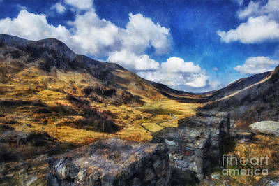 Craig Digital Art - Nant Ffrancon Valley by Ian Mitchell