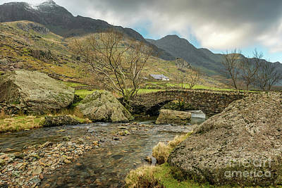 Photograph - Nant Peris Bridge by Adrian Evans