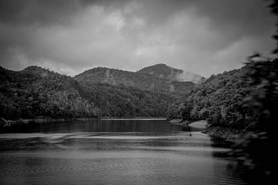 Photograph - Nantahala River Great Smoky Mountains In Black And White by Kelly Hazel