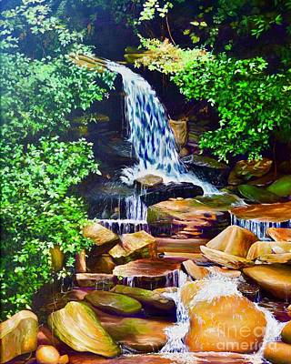 Painting - Nantahala Waterfall by AnnaJo Vahle