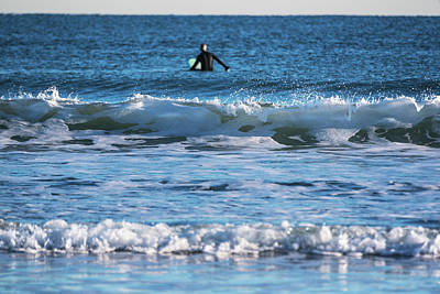 Photograph - Nantasket Beach Surfer Behind The Wave Hull Ma by Toby McGuire
