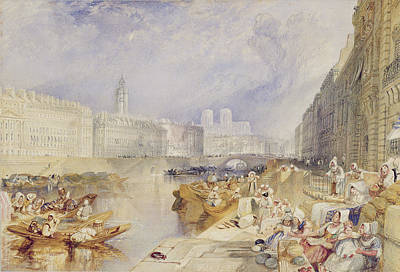 On Paper Painting - Nantes by Joseph Mallord William Turner