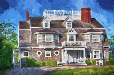 Photograph - Nantucket Architecture Series 28 by Carlos Diaz
