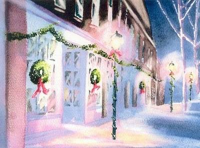 Cape Cod Painting - Nantucket Christmas by Joseph Gallant