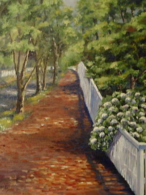 Nantucket Fence Number Three Art Print by Andrea Birdsey Kelly