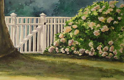 Nantucket Fence Number Two Art Print by Andrea Birdsey Kelly