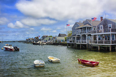 Photograph - Nantucket Harbor - Safe Harbor Series 51 by Carlos Diaz