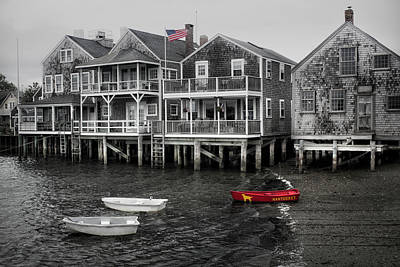 Photograph - Nantucket In Bw Series 6139 by Carlos Diaz