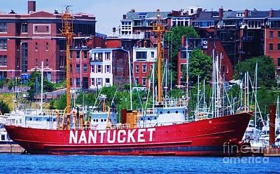 Nantucket Light Ship Lv-112 Print by Marcus Dagan