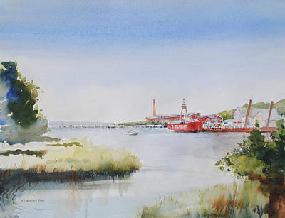 Painting - Nantucket Light Ship by P Anthony Visco