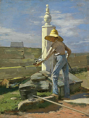 Painting - Nantucket Pump by Theodore Robinson