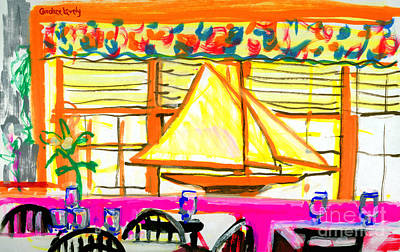 Painting - Nantucket Restaurant by Candace Lovely