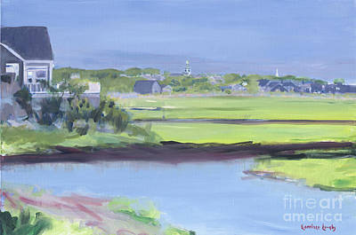Painting - Nantucket Town View From The Creek by Candace Lovely