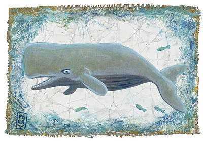 Nantucket Whale Original by Danielle Perry