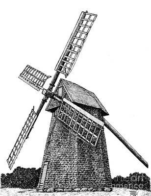Nantucket Windmill Number One Art Print