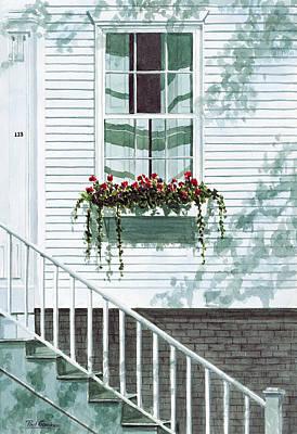 Cape Cod Painting - Nantucket Window by Paul Gardner