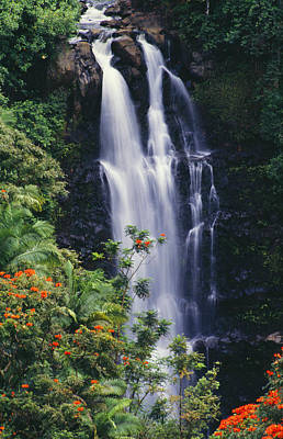 Photograph - Nanue Falls by Ray Mains - Printscapes