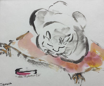 Painting - Nap Time by Laurie Samara-Schlageter